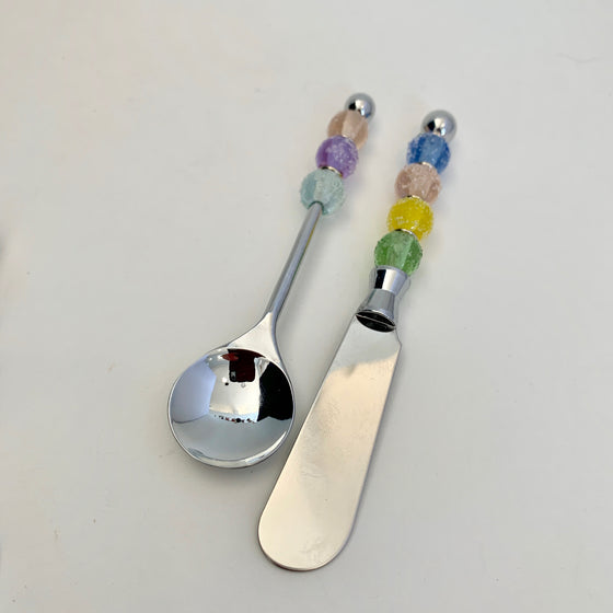 Seder Plate Utensils - Sugared Glass