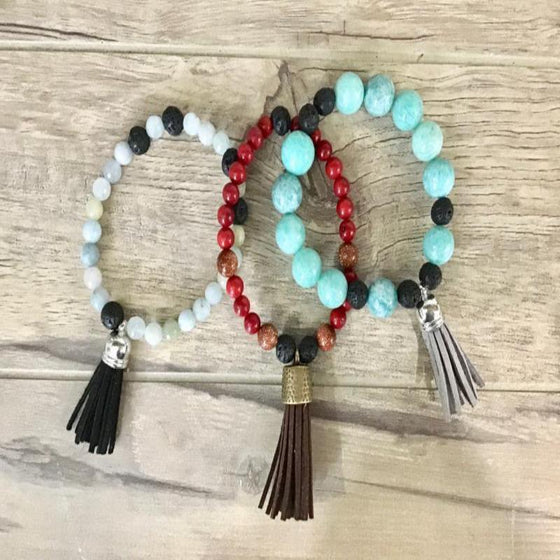 Essential Oil Diffused Mala Bracelet Workshop