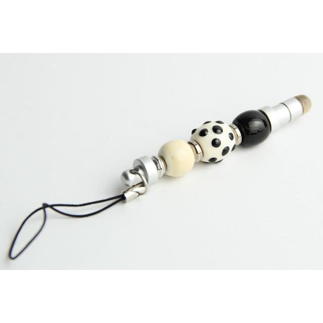 Mini Stylus-Ivory & Black Dot