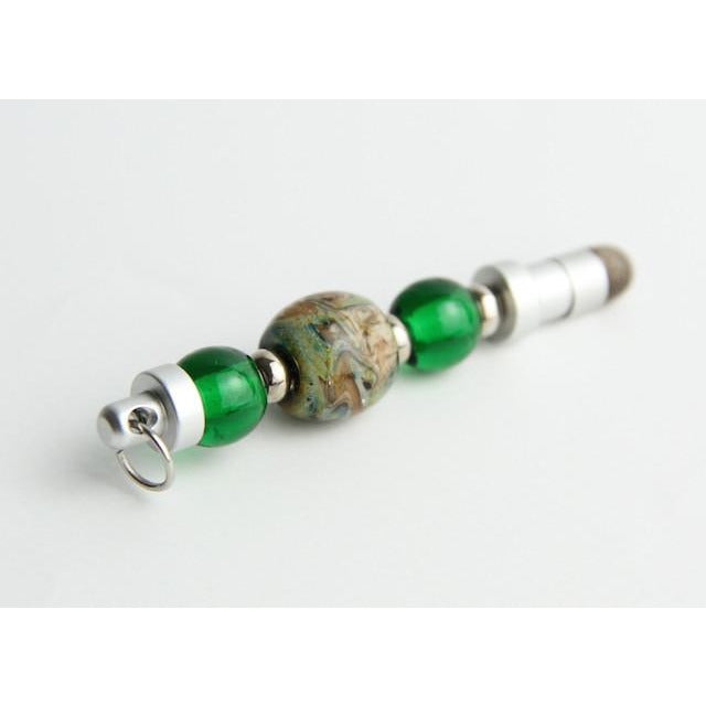 Mini Stylus-Green Raku