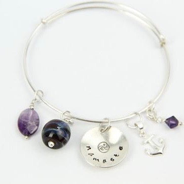 Adjustable sterling bangle-Create Your Own
