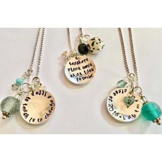 Stamped Necklace for Teachers/Coaches/Counselors