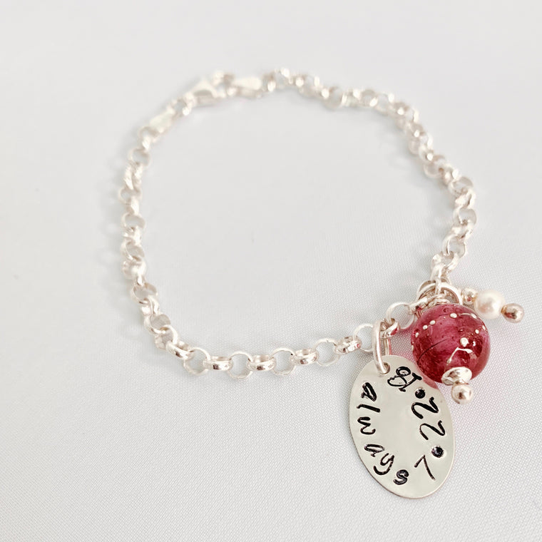Customized Sterling Bride's Bracelet-from the Groom