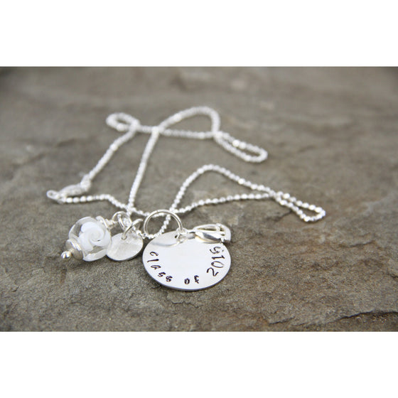 Sterling stamped necklace-Create Your Own