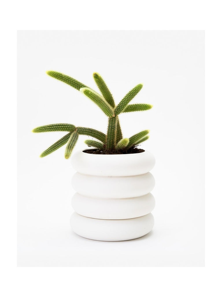 *NEW* White Stacking Planter - Tall