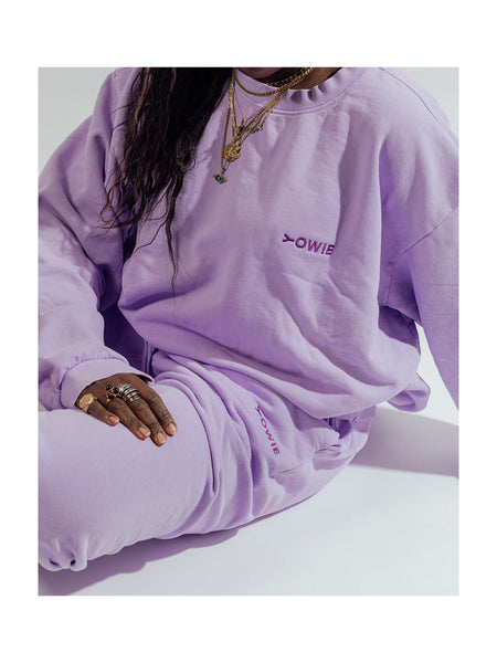 YOWIE Everyday Sweatshirt in Purple Rose