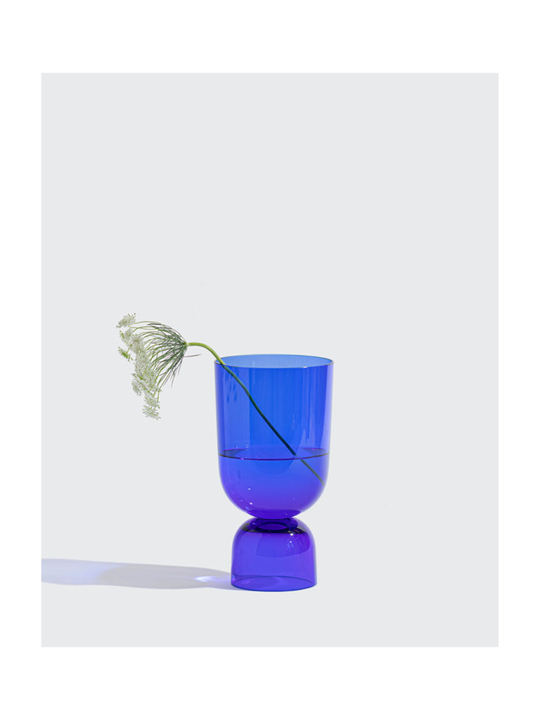 Cobalt Bottoms Up Vase