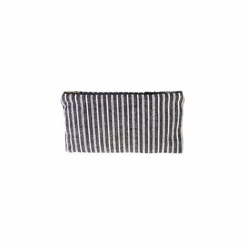 Black + White Stripe Coin Purse