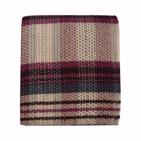Welsh Recycled Wool Throw - Violet