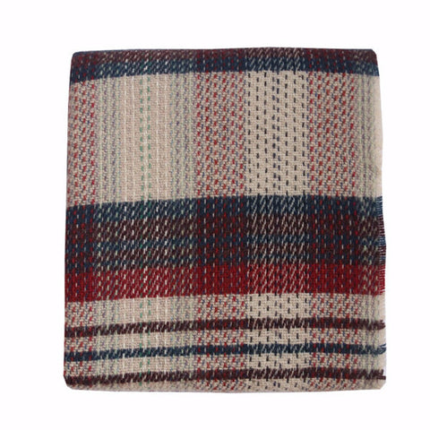 Welsh Recycled Wool Throw - Indigo