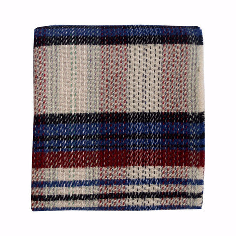 Welsh Recycled Wool Throw - Poppy