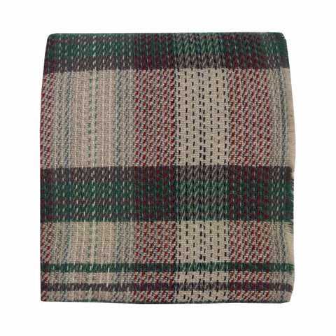 Welsh Recycled Wool Throw - Sage