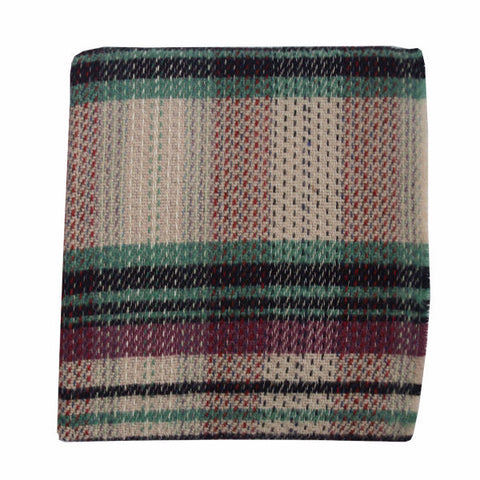 Welsh Recycled Wool Throw - Iris