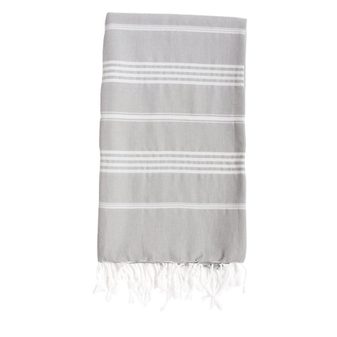 Rock Grey Striped Towel