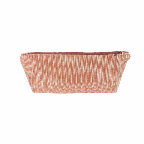 Brick Herringbone Makeup Bag