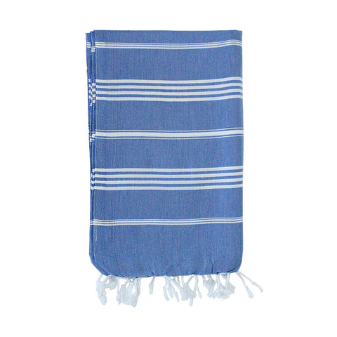 Tintagel Blue Striped Towel