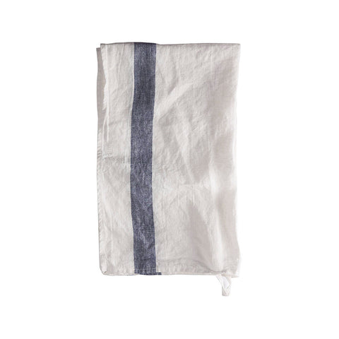Navy Stripe Linen Tea Towel