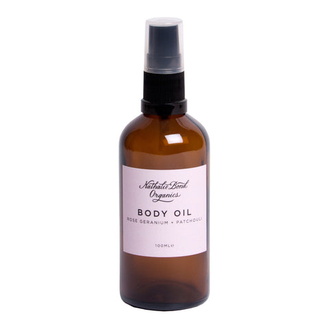 Rose Geranium + Patchouli Body Oil