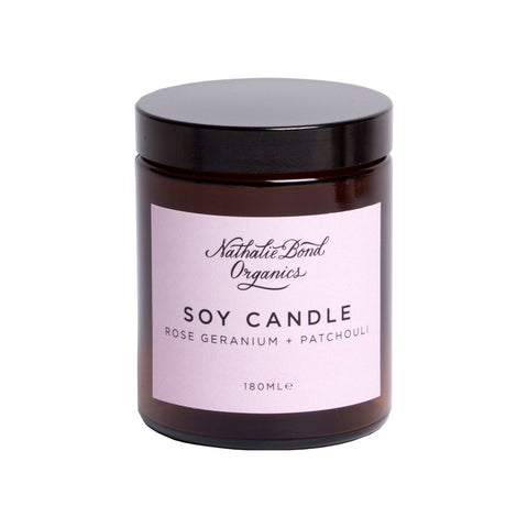 Rose Geranium + Patchouli Soy Candle