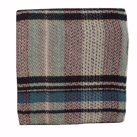 Welsh Recycled Wool Throw - Willow