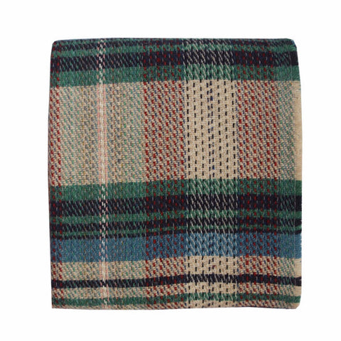 Welsh Recycled Wool Throw - Ivy