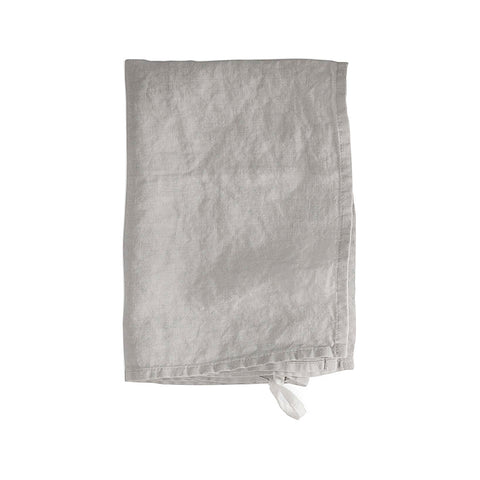 Dove Grey Linen Hand Towel