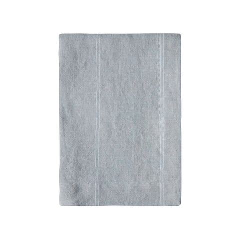 Grey Stripe Linen Tea Towel