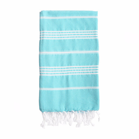 Padstow Blue Striped Towel