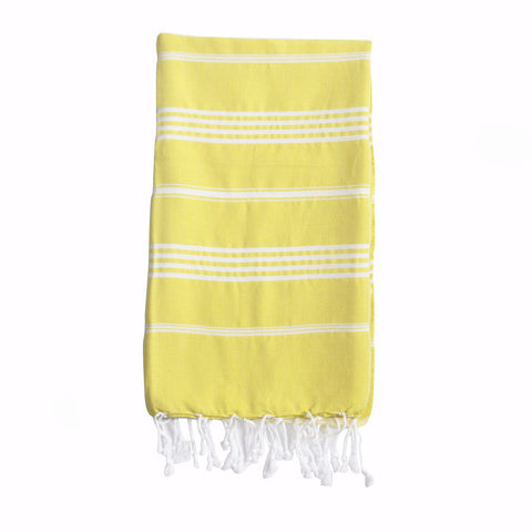 Trevone Yellow Striped Towel