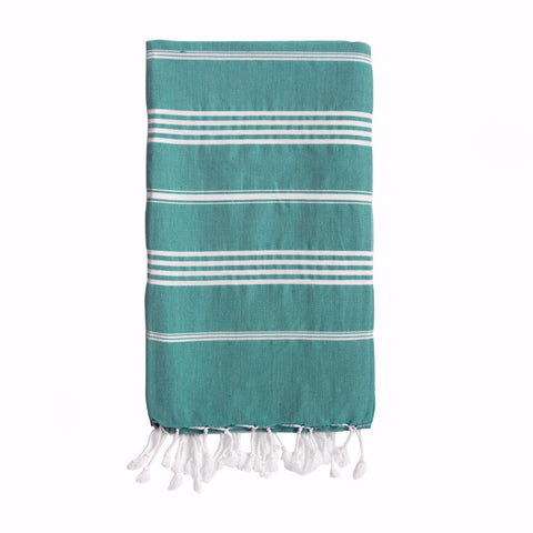 Harlyn Green Striped Towel