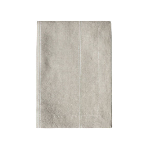 Natural Stripe Linen Tea Towel