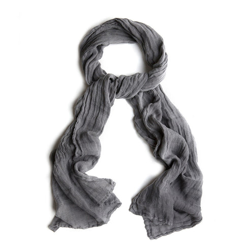 Linen Scarf- Charcoal