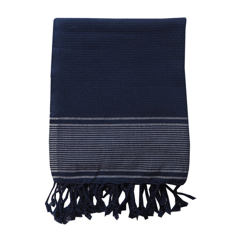 Navy Striped Towel