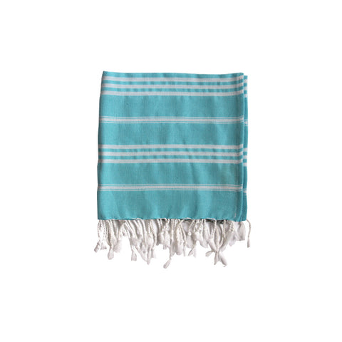 Padstow Blue Striped Hand Towel