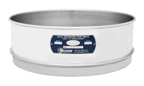 "12"" Sieves - Full Height - Stainless Steel Frame & Mesh"