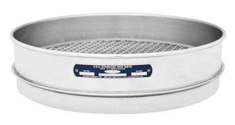 "12"" Sieves - Intermediate Height - Stainless Steel Frame & Mesh"