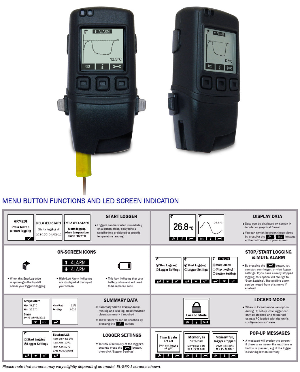 Data Logger, Type K with Screen