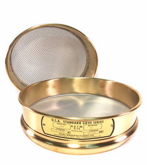 "8"" Sieves - Choose Half or Full Height - Brass w/ SS Mesh"
