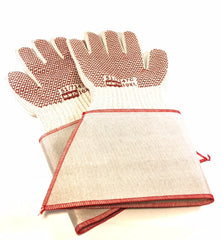Grip'N Hot Mill Gloves w/ Gauntlet Cuff