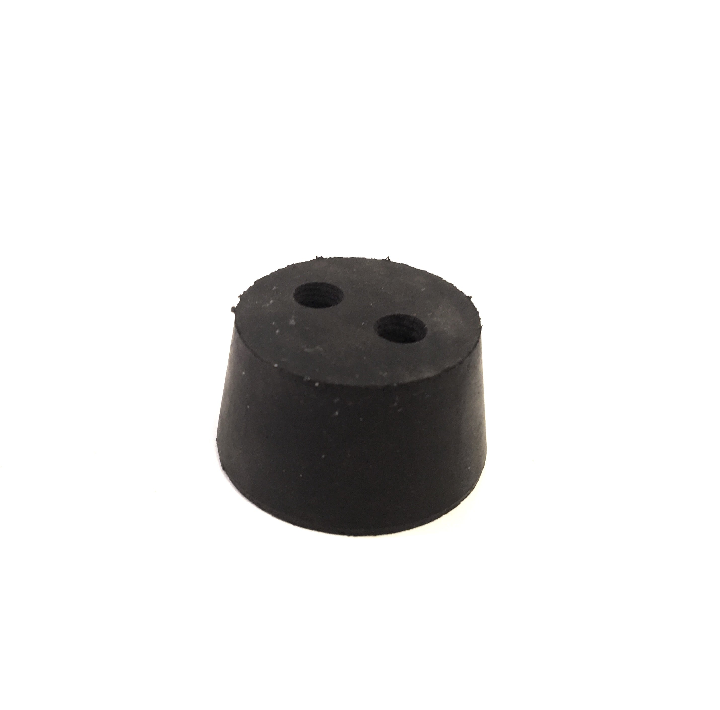 "#9 Rubber Stopper - w/ 2, 3/8"" holes"