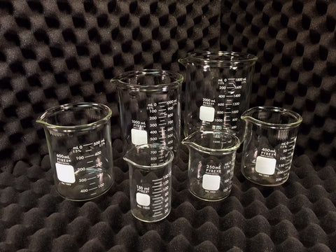 Low Form Heavy-Duty Pyrex® Glass Beaker Available in 6 sizes. Please Select Size.