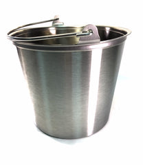 14-Quart, Stainless Steel Collection Pail, Seamless.