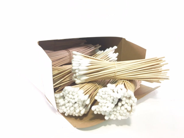 "6"" Wooden Cotton Swabs, Pack of 1500"