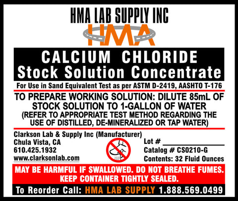 Sand Equivalent Stock Solution Concentrated, 1-Gallon