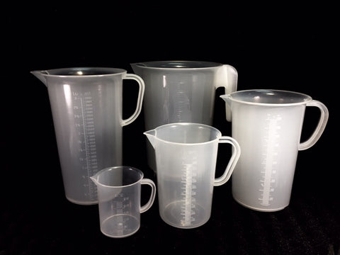 Plastic Pitcher, Graduated - Available in 250,1000,2000,3000 & 5000 ml capacity