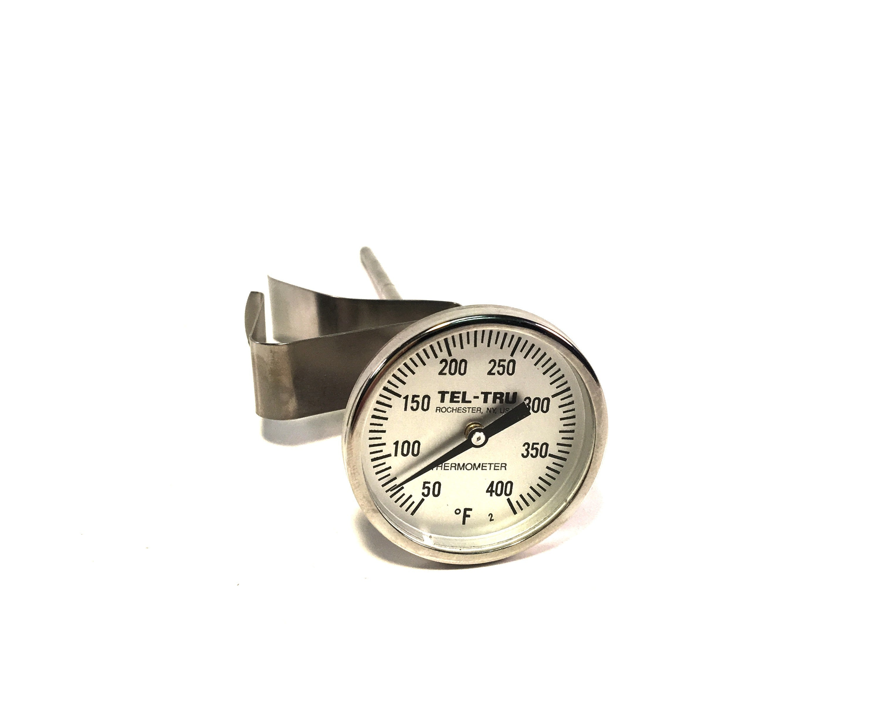 "1.75"" Dial 5"" Stem Thermometer, 50-400°F"