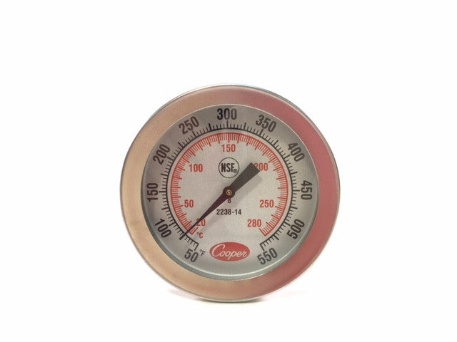 "8"" Dial Stem Thermometer, 50-550°F / -20 to 280°C"