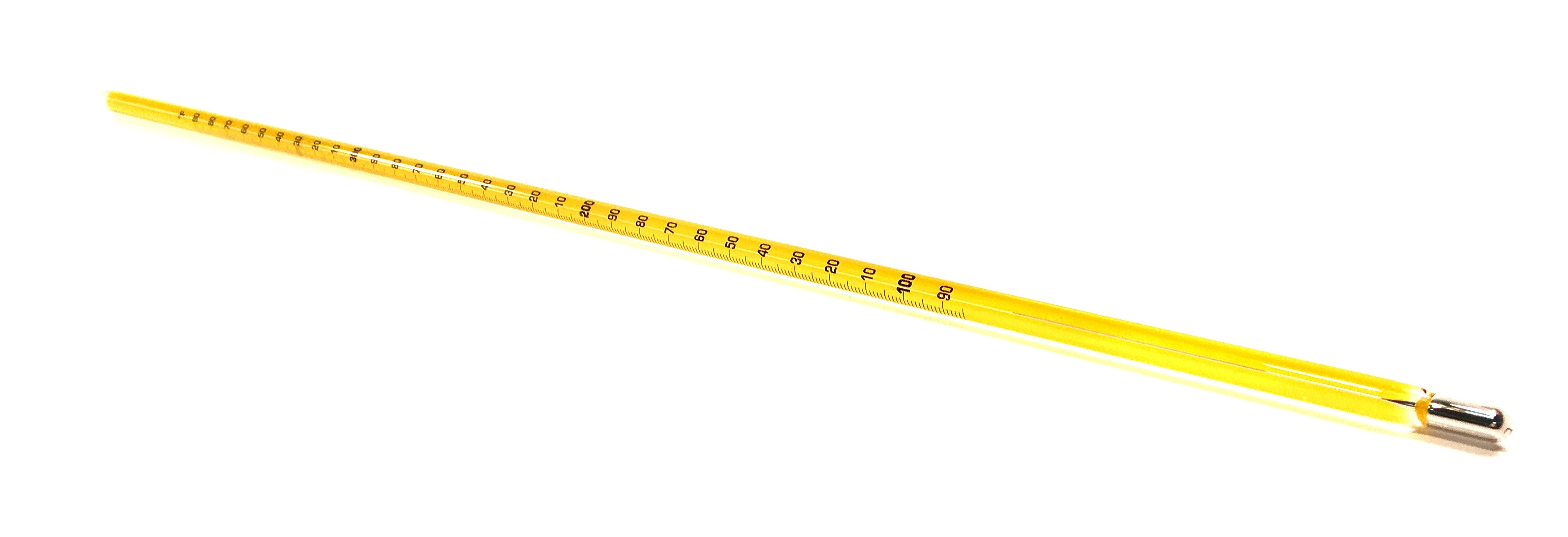 "Glass Mercury 15"" Thermometer, 30 - 400°F x 1.0° - Available With or Without NIST Certificate"