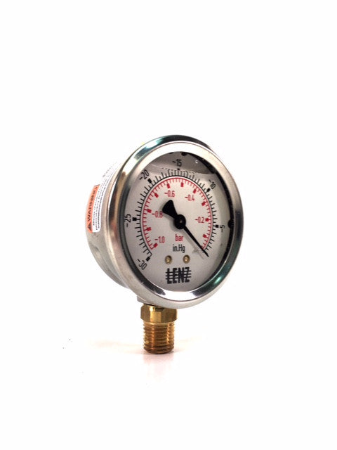 Liquid-Filled Dial Vacuum Gauge