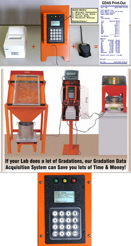 GDAS (Gradation Data Acquisition System) Control Module Cabinet Floor Stand